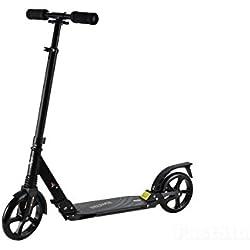 200A adulto Kids Ligero Plegable fresco diseño inteligente Push patinete, negro