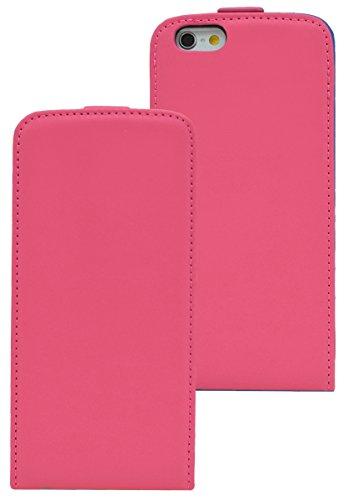 iPhone 6 / 6s (4.7 Zoll) / Premium Flip-Style Tasche Handytasche Etui Hülle Schutzhülle (Spezielle Anfertigung) in schwarz Pink