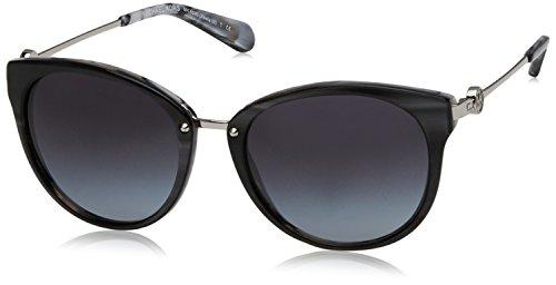 Michael kors abela iii 321111 55, occhiali da sole donna, nero (black horn/ltgreygradient)