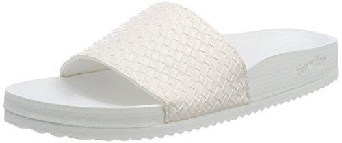 flip*flop Damen poolbraid metallic Offene Sandalen, Weiß (White), 38 EU