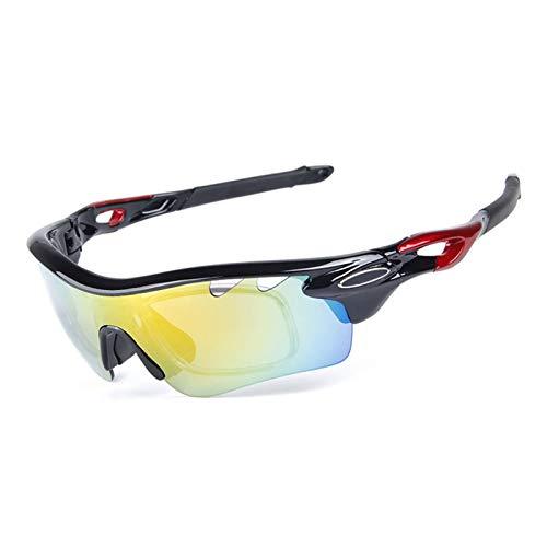 DOLOVE Motorradbrille Vintage Brille Winddicht Damen Herren Schutzbrille Antibeschlag Schwarz Rot Schwarz -