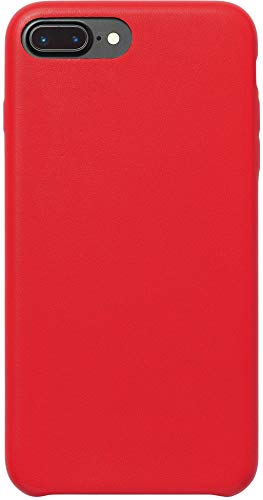 AmazonBasics - Custodia in PU Sottile per iPhone 7 Plus, Rosso