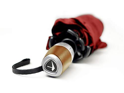 Senz°Automatik Deluxe Regenschirme Nie Aus Der Mode Faltbare Schirme Mit automatischer Öffnungs- und Schließfunktion - Leidenschaftliches Rot