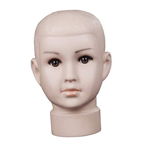 Baoblaze Modèle de Tête de Mannequin PVC Enfant Garçon