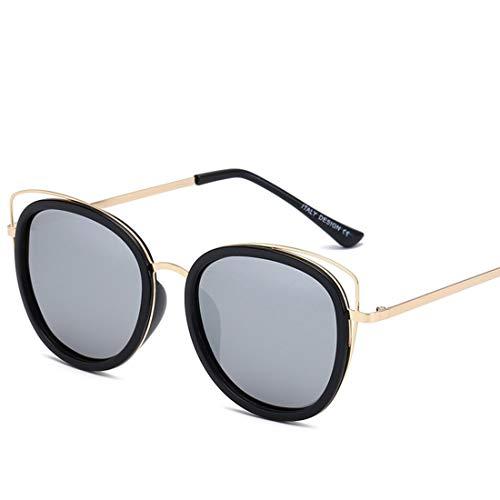 Shiduoli Katze Ohr runde Sonnenbrille für männer Frauen Frauen Sonnenbrille uv-Schutz übergroßen Sonnenbrille Fall (Color : C)