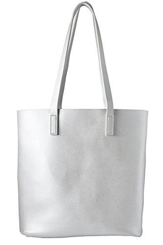cecilia&bens Damen Shopper | Handtasche | silber