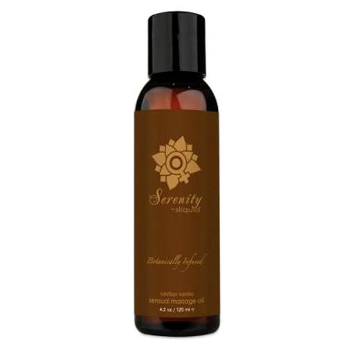 Sliquid Balance Collection Massage Oil 4.2oz -Serenity, 1er Pack (1 x 125 ml) -