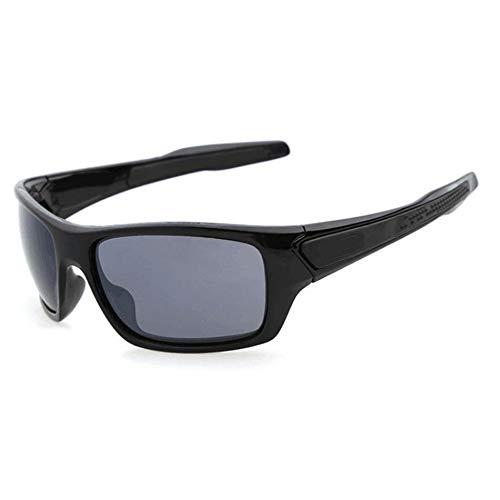 JesseBro76 Leichte Herren Classic Design Windproof Radsport Sonnenbrille schwarz