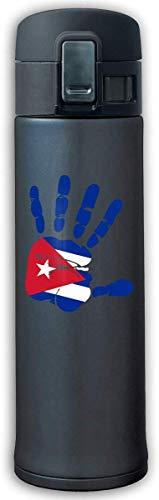 13 Unzen Edelstahl Vakuumisolierung Kaffeetasse Auslaufsicher Handprint Flagge Von Kuba Trinkflasche