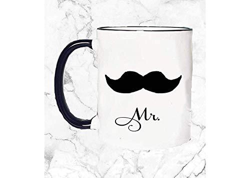 ChGuangm Mr Mustache Mug Funny Mug Gift for him Coffee Mug Pun Mug Wedding giftHoneymoon Gifts Mustache