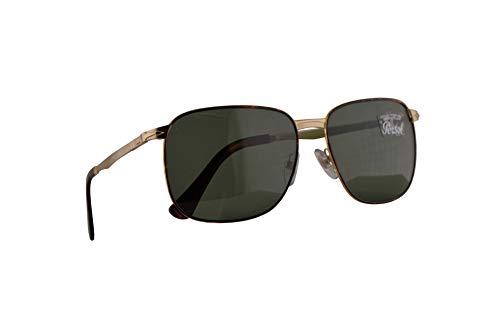 Persol Miller 2463-S Sonnenbrille Havana Gold Mit Grünen Gläsern 59mm 107531 PO 2463S PO2463S PO2463-S