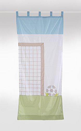 Tenda con passanti per cameretta bambini - 'calcio' 105x240cm
