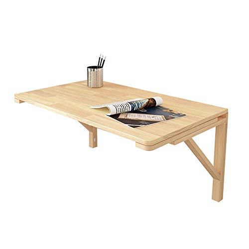 48-FEITENGDAYE Wandmontierter Laubtisch aus Kiefernholz mit Klapptisch, Küche und Esstisch, Computertisch (Größe : 50 * 30cm) -