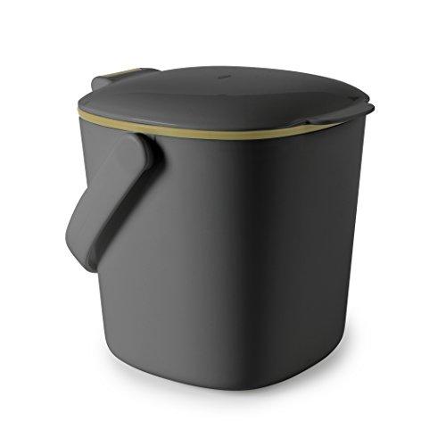 OXO Good Grips Küchenabfalleimer Komposteimer, Plastik, Grau