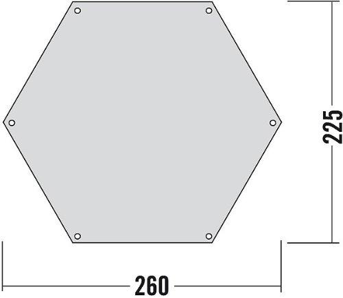 Tatonka Zeltunterlage 6-ECK Transparent 260 x 255 cm