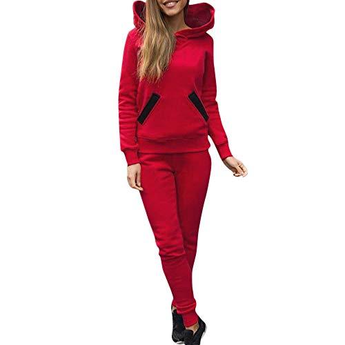iHENGH Neujahrs Karnevalsaktion Damen Frühling Sommer Top Bluse Bequem Lässig Mode Frauen Blusen Trainingsanzug Hoodies Sweatshirt Top Hosen Sets Sport Wear Casual Suit