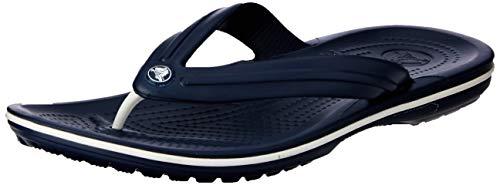 Crocs Unisex-Erwachsene Zehentrenner Zehentrenner Crocband Flip, Blau (Navy), 43-44 (Herstellergröße: M10/W12)