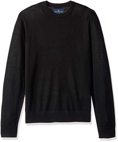 Leichte Wolle-pullover (Buttoned Down Herren Leichter Cash-Wolle-Pullover aus Italienischer Merinowolle, Schwarz(black), XXL)