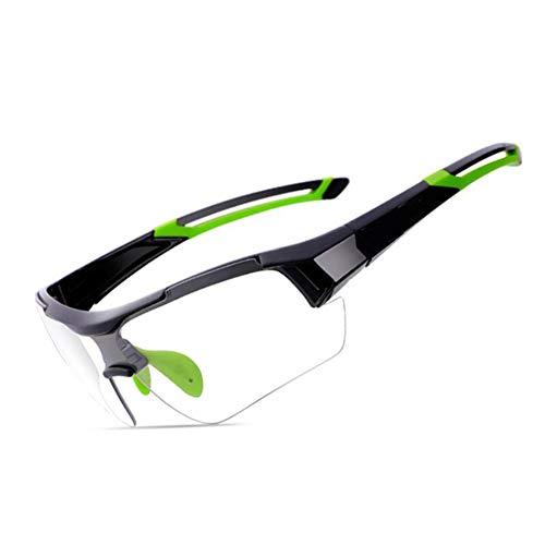 KCaNaMgAl Farbwechselnde Sonnenbrillen für Damen und Herren, farbige Wechselgläser, Winddichte, explosionssichere Mountainbikes, Outdoor-Sportbrillen,Green