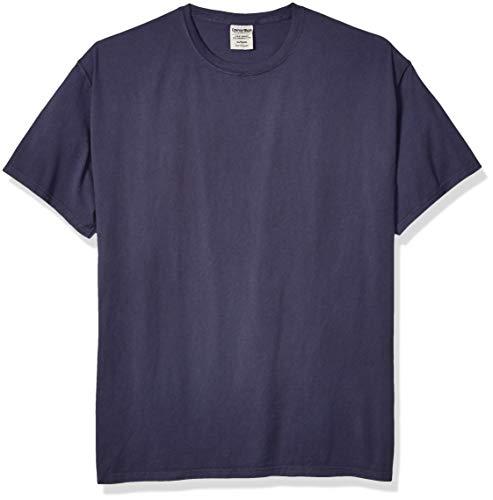 Hanes Herren Men's COMFORTWASH Short Sleeve Tee T-Shirt, Anchor Slate, X-Groß - Hanes T-shirt Sweatshirt