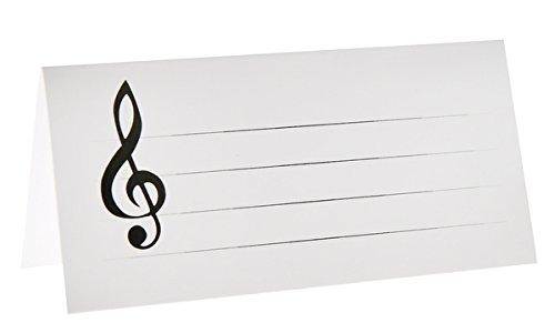Marque-places musique carton