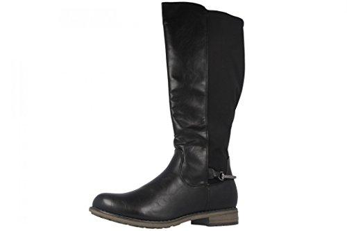 Fitters Footwear That Fits Damen Hochschaft Stiefel Übergröße 42-45 gefüttert Maja große Größe (43 EU, Schwarz)