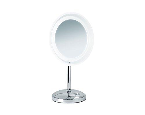 Nicol 4025500 Mariella Kosmetikspiegel, Metall, Chrom, 23 x 23 x 42 cm