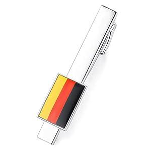 Honey Bear Hochwertig Herren National flagge Krawattennadel Krawattenklammer Tie Clip aus Edelstahl,MEHRWEG