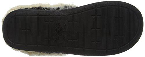 Dearfoams Space-dye Boucle Clog With Memory Foam, Chaussons femme Black (Black 00001)
