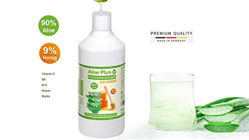 Aloe Vera Gel, ALOE & HONIG TRINKGEL PURER SAFT, mit Vitamin C, B6, B12, Niacin, Biotin I Aloe Vera Gel zum Trinken 1 Liter I Nahrungsergänzung I Premium Qualität - - von Secret Essentials