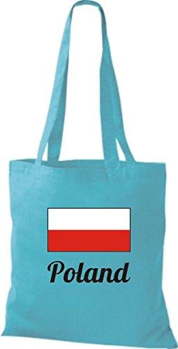 Camicia Di Stoffa Di Cotone Borsa Di Stoffa Paese Iuta Polonia Polonia Colore Cielo Rosa