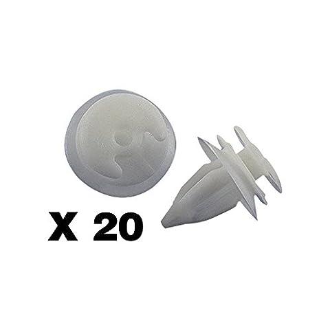 tuqiang® 20x Clips/Plastic Screw Zierleisten und Haarbänder–BMW E34E36E38E39E46–(51411973500)–Panneaux de (Cadillac Deville Dts)
