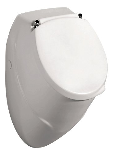 AquaSu Urinal Komplett-Set Leo | Inklusive Deckel | Weiß | Becken