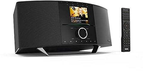 Hama Internetradio Digitalradio mit CD Player (WLAN/LAN/DAB+/UKW/CD/Multiroom/Bluetooth, USB, Fernbedienung, 2,8 Farbdisplay, kostenfreie App) schwarz