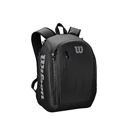 Wilson WRZ843995 Zaino da Tennis Tour Backpack, Unisex, Nero, Fino a 2 Racchette