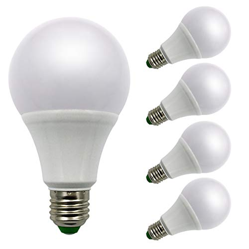 Lot de 4ampoules à incandescence, E271224V AC/DC 9W 940lumens Super Bright LED SMD, Mo ampoules halogènes équivalent, blanc chaud, E27, 9.00 wattsW 12.00 voltsV