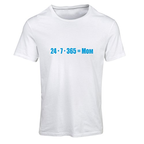 N4077F Best Mom Frauen T-Shirts (L, Weiß Blau)