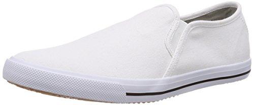 KangaROOS KangaVulcT 2078 A, Low-Top Sneaker unisex bambino, Bianco (Weiß (white 000)), 39