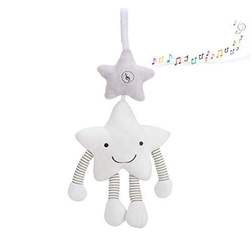 Man9Han1Qxi Niedlichen Kinderwagen Krippe Rassel hängenden Stern Beißring Spielzeug Musical gefüllte Puppe Neuheit lustiges Spielzeug - Fünf Alt Für Jahr Puppen