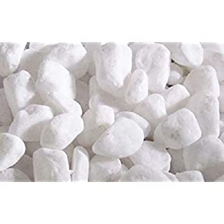 500g White Marble Chippings Approximately 14-20mm.