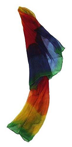 Das Regenbogen-Seidentuch: 45 x 180 cm Reine Chiffon-Seide