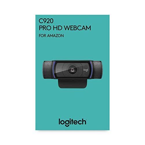 Logitech C920 HD Pro para AMZ - Cámara Web, videoconferencias y grabaciones de vídeo Full HD 1080p con dos micrófonos estéreo, Negro