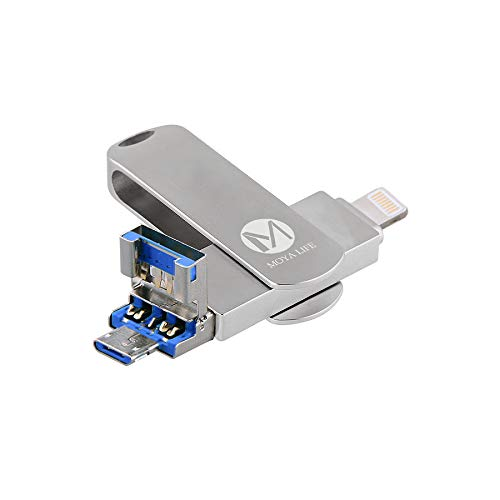 Moya life pen flash drive universale 32 gb, chiavetta usb per memoria flash esterna in lega di zinco usb 3.0 compatibile per iphone, ipad, ipod, mac, telefono ios/android e pc