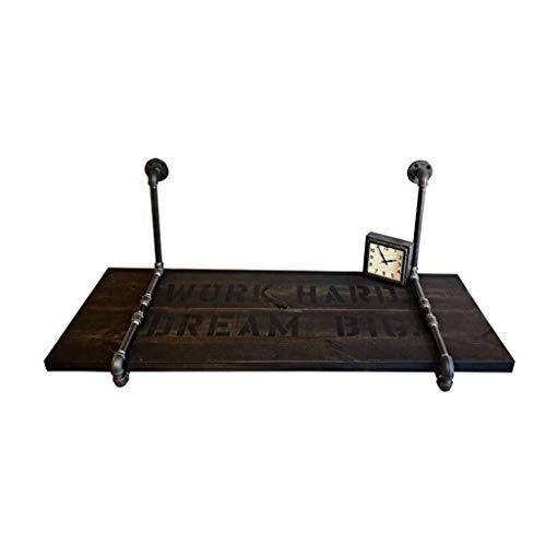 JKL- Notebookständer LOFT Retro Industrie Wand Computer Schreibtisch Schreibtisch Kreative Wasserpfeife Eisen Kiefernholz Schreibtisch Tisch Home Writing Laptop Tisch (Size : 80 * 50 * 3cm) -
