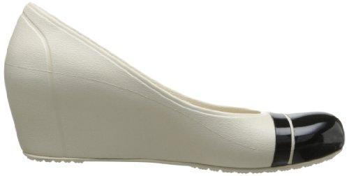 Crocs Cap Toe, Sandales compensées femme Beige (Stucco/Black)