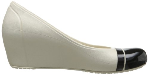 Crocs Cap Toe Wedge, Scarpe col tacco donna Beige (Stucco/Black)