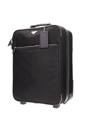 VV030MNERO Prada Sac de voyage Homme Tissu Noir Noir