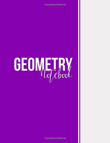 Geometry Notebook: Blank Notebook, Unlined Pages, Large(8.5 x 11 inches), 101 pages, Matte, Purple