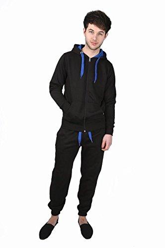 Gugu Fashion -  Tuta da ginnastica  - Uomo Black & Blue