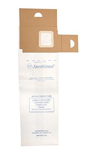 janitized jan-euls-2(3) Papier Premium Ersatz kommerziellen Vakuum Bag passt Eureka Litespeed Modelle 5700–5739und 5800–5839Serie, powr-flite pf82hf Staubsauger, OEM # 61820, 63256& er419, Eaches, 3